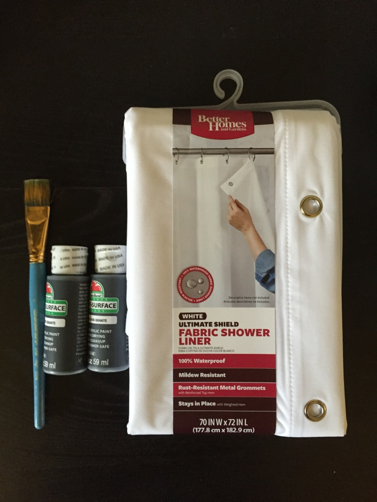 supplies for hand painted shower curtain